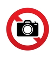 No Photo camera sign Digital photo camera symbol vector image