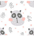 nursery panda pattern vector image vector image