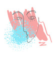 one line human portrait design hand drawn vector image vector image