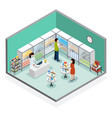 pharmacy dispensary drugstore isometric vector image vector image