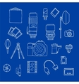 Photography Equipment Doodle Set vector image vector image