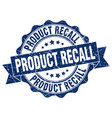 product recall stamp sign seal vector image vector image