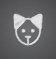 puppy sketch logo doodle icon vector image vector image