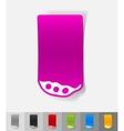 realistic design element pea pod vector image