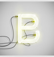 realistic neon character from a typeset vector image vector image