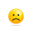 sad smile icon symbol smiley face yellow cartoon vector image vector image