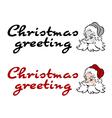 Santa greeting vector image vector image