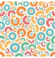 Seamless Jumble Geometric Retro Pattern vector image