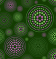 Seamless pattern geometric green dark circle vector image