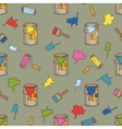 Seamless Pattern with Multicolored Paint vector image vector image