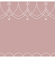 Seamless pearl ornament on a pink background