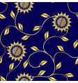 seamless sunflower vector image vector image