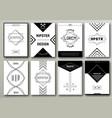 set brochures in hipster style vintage vector image vector image