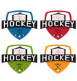 set hockey sport crests template design vector image