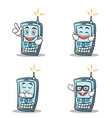 set of phone character cartoon style vector image vector image