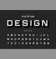 shadow font and alphabet design typeface letter vector image vector image