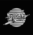 shark hurricane ariplane vector image