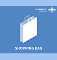 shopping bag icon isometric template vector image