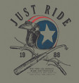 sketch usa helmet t shirt prints with handle bar vector image vector image