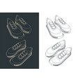 sneakers outline vector image vector image
