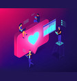 social media engagement isometric 3d concept vector image vector image