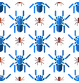 spider web silhouette arachnid fear seamless vector image vector image