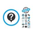 Status Flat Icon with Bonus vector image vector image