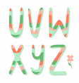 Striped letters vector image vector image