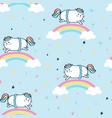 sweet unicorn pattern seamless vector image vector image