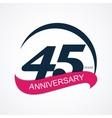 template logo 45 anniversary