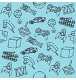 Toys set pattern vector image