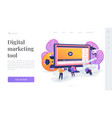 video content marketing landing page template vector image vector image