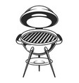 vintage open barbecue grill concept vector image