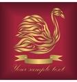 Vintage ornamental gold swan vector image