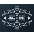 vintage royal old frame ornament decor black vector image vector image