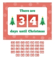 Waiting for Christmas calendar vector image