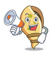 with megaphone sea shell character cartoon vector image vector image