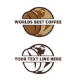 worlds best coffee bean emblem vector image vector image