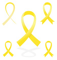 yellow sign ribbon cancer symbol vector image