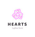 abstract ornate heart graphic symbol ornamental vector image