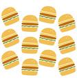 burger pattern vector image