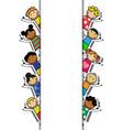 Cartoon background with children vector image