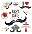 Happy fathers day set vector image