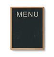 Restaurant menu board in a wooden frame vector image