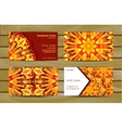 Visiting card and business card with mandala vector image