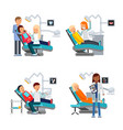 patient in dentist room healthcare vector image