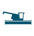combine harvester logo sign farm machine for vector image
