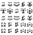 Set of talking icons vector image