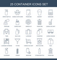 25 container icons vector image vector image