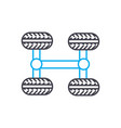 4wd transmission thin line stroke icon 4wd vector image